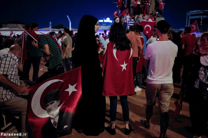 تجمع حامیان اردوغان در ترکیه /تصاویر