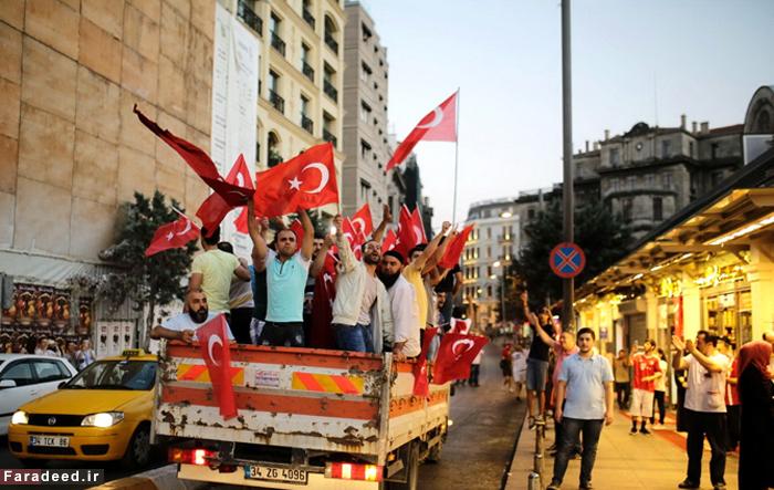 تصاویر/ تجمع حامیان اردوغان در ترکیه