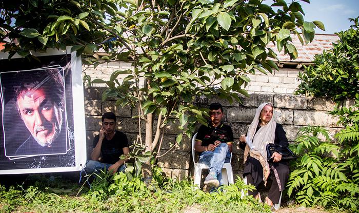 مراسم چهلمین روز درگذشت حبیب در حضور پسرش محمد + تصاویر