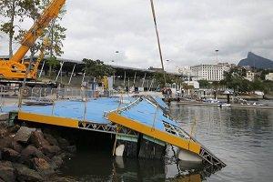 توفان شدید و تخریب محل مسابقات قایقرانی المپیک 2016