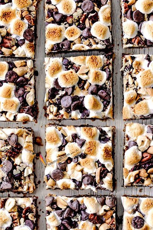 طرز تهیه دسر خوشمزه و آسان شکلات کاراملی با آجیل