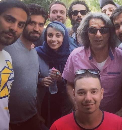 وقتی خانم بازیگر ایرانی از گیر دادن به رنگ جدید موهایش کلافه شد