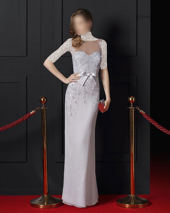 زیباترین مدلهای لباس مجلسی گیپور بلند 2016