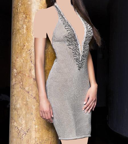 مدل لباس مجلسی کوتاه برند BACCIO