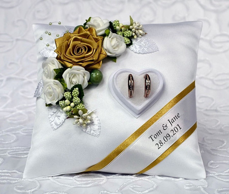 آموزش تزیینات کوسن برای حلقههای ازدواج