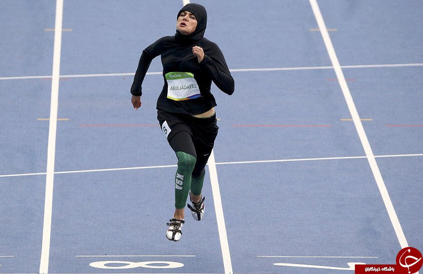 ستایش حجاب دونده زن عربستانی در فضای مجازی /تصاویر