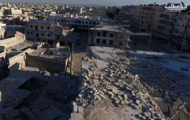 عکس های هوایی ناراحت کننده از شهر حلب