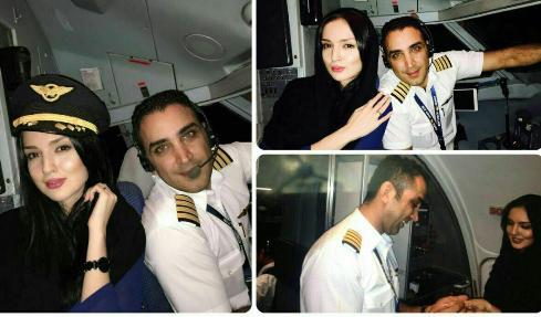 خواستگاری جالب کاپیتان در هواپیمای کیش ایر /عکس