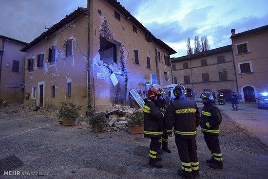 زلزله ای دیگر بازهم در ایتالیا خسارت به بار آورد + تصاویر