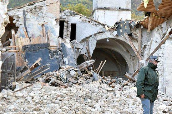 تصاویری از خسارت زلزله در ایتالیا