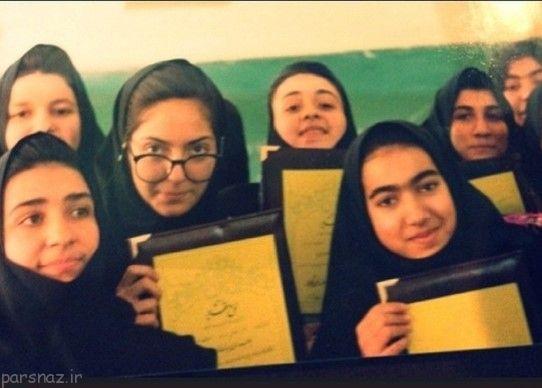 عکس مهناز افشار زمان مدرسه
