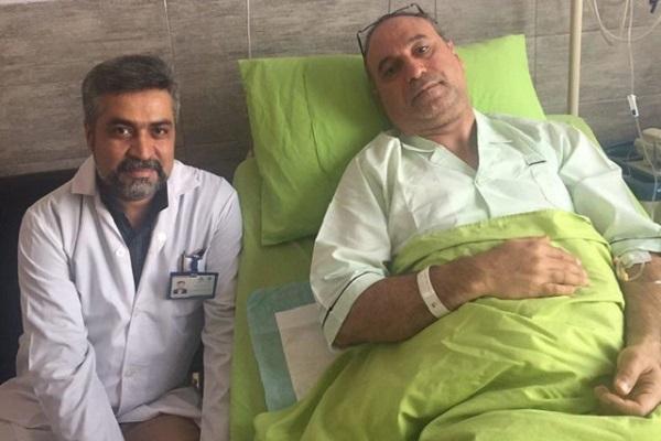 حمید فرخ نژاد در بیمارستان بستری شد /عکس