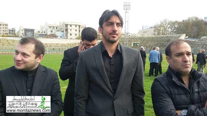 مراسم تشییع جنازه منصور پورحیدری در شیرودی با حضور اهالی فوتبال + عکس