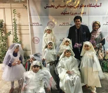 جشن تولد سالار عقیلی در کنار معلولان برگزار شد
