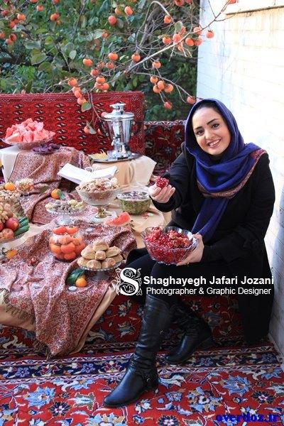 عکس جدید نرگس محمدی به مناسبت شب یلدا