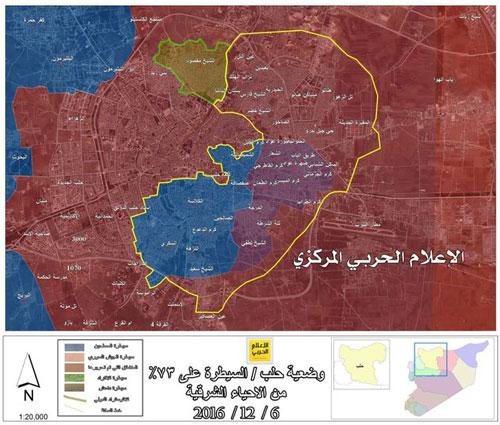 شمارش معکوس برای آزادی شهر حلب آغاز شد