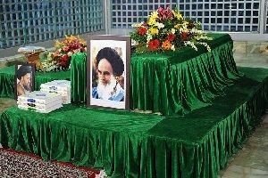 عکس محل خاکسپاری آیت الله هاشمی در جوار بارگاه ملکوتی امام راحل