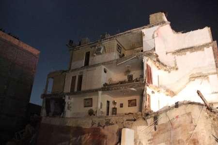 ریزش یک ساختمان چهار طبقه در ورامین در اثر گودبرداری غیراصولی