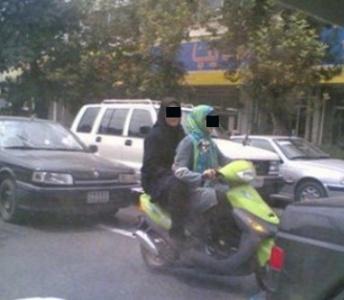 دختران موتور سوار هنجار شکن با همکاری بسیج دستگیر شدند
