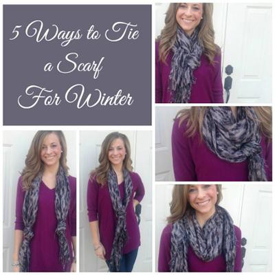 بستن شال گردن های زمستانی,طرز بستن شال