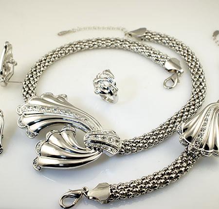 سرویس جواهرات شیک,سرویس جواهر سفید,تازهترین سرویس جواهر