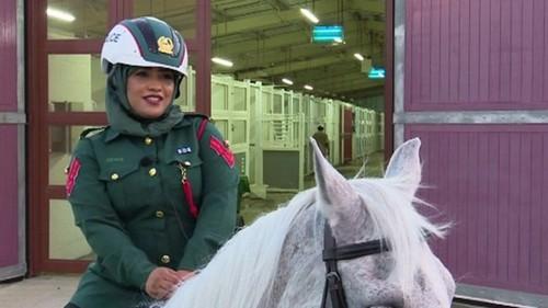 زنان پلیس سوار بر اسب /تصاویر