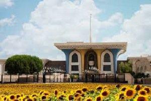 استقبال پادشاه عمان از روحانی در قصر زیبای العلم مسقط