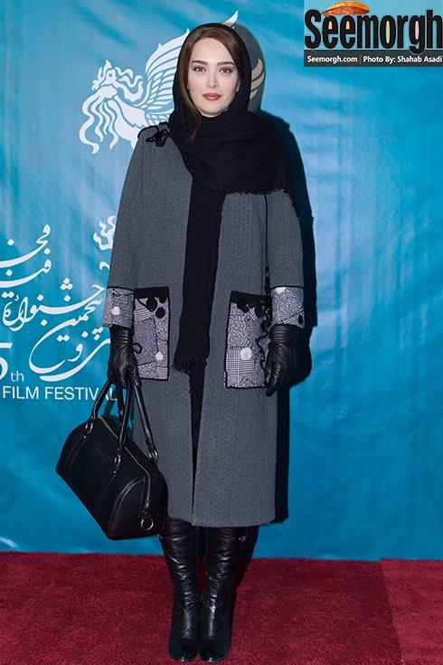مدل مانتو بهنوش طباطبایی در پنجمین روز جشنواره فجر 35