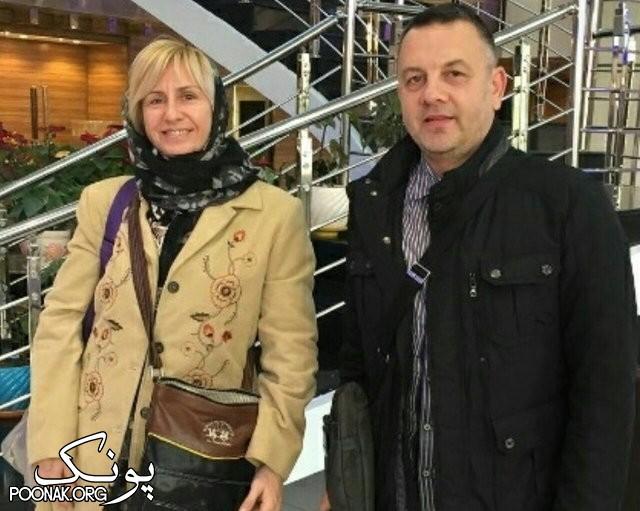 ایگور کولاکوویچ سرمربی والیبال ایران و همسرش در تهران + عکس