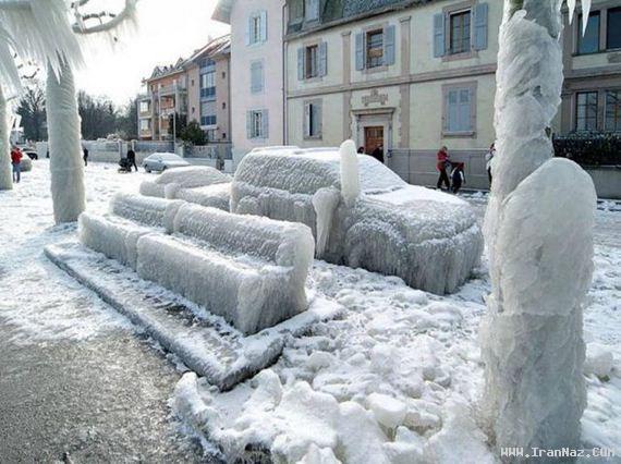 به سرد ترین شهر جهان خوش آمدید + تصاویر