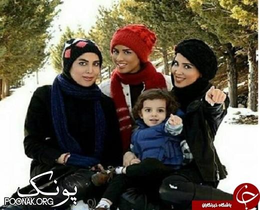برف بازی لیلا بلوکات با خواهرانش! + عکس