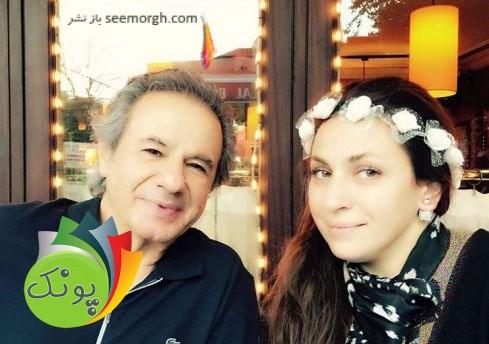 عارف خواننده 75 ساله و همسر جوانش عسل + تصاویر
