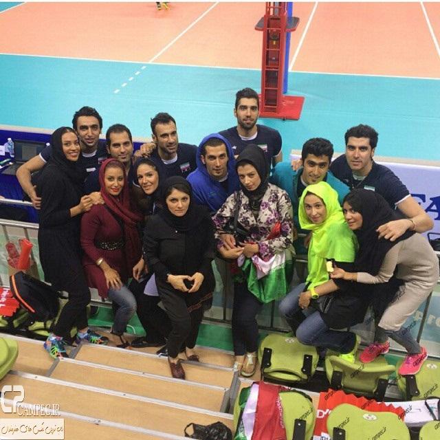 عکس بازیکنان تیم ملی والیبال و همسرانشان