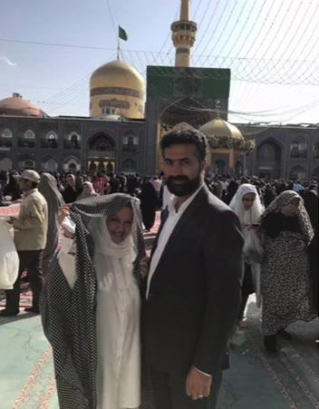 ماه عسل بهاره رهنما و همسرش در مشهد