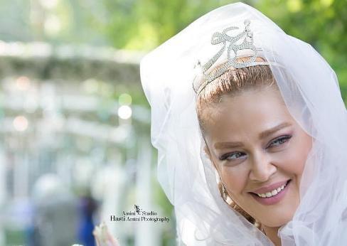 چهره بهاره رهنما در مراسم ازدواج اش