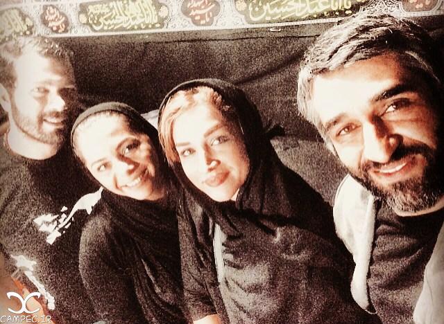 [blocked]پژمان بازغی و همسرش و پژمان جمشیدی و خواهرش