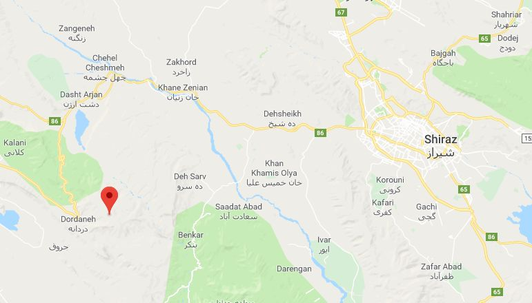 زلزله امروز شیراز