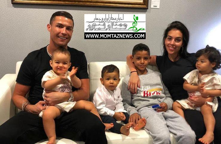 جدیدترین عکس رونالدو و همسر و فرزندانش