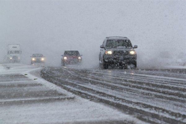 جاده هراز برف