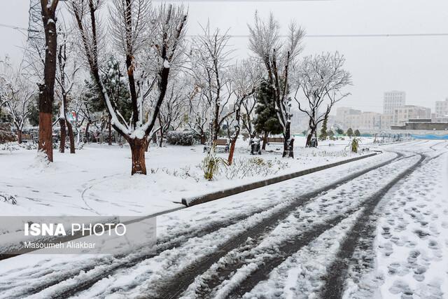 بارش برف زمستانی در کرج