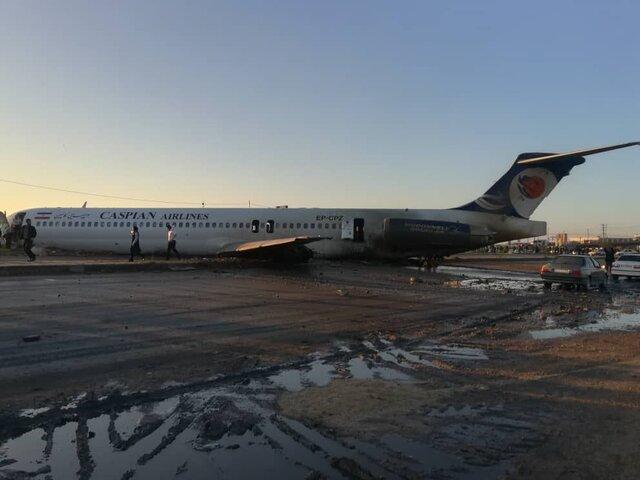 هواپیمای مسافربری در ماهشهر از باند خارج شد