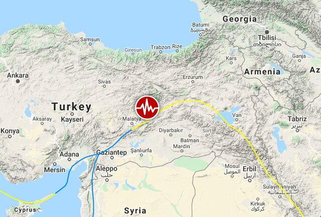 وقوع زمینلرزه شدید در شرق ترکیه
