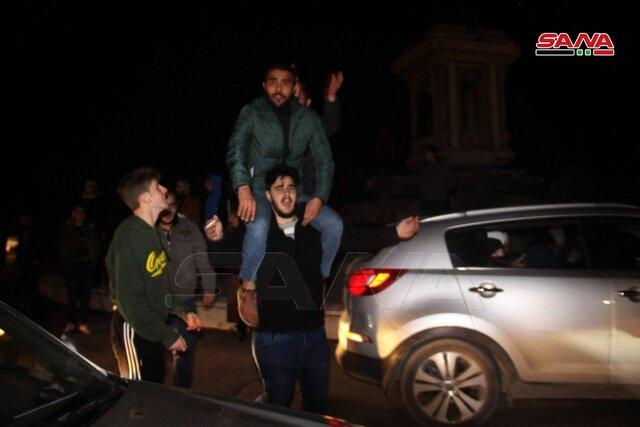 شادی سوریها بعد از تامین امنیت کامل حلب به دست ارتش