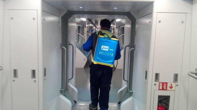ضدعفونی مترو در شیراز انجام شده است