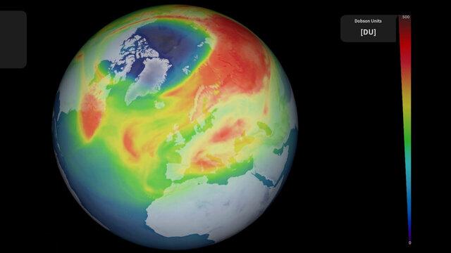 ایجاد بزرگترین حفره در لایه اوزون در قطب شمال