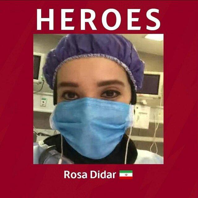 توئیت باشگاه رم درباره متخصص اورژانس ایرانی کادر درمانی کرونا
