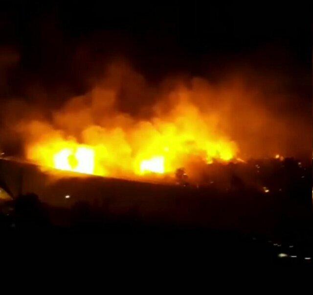 آتشسوزی در چیتگر – ایسنا