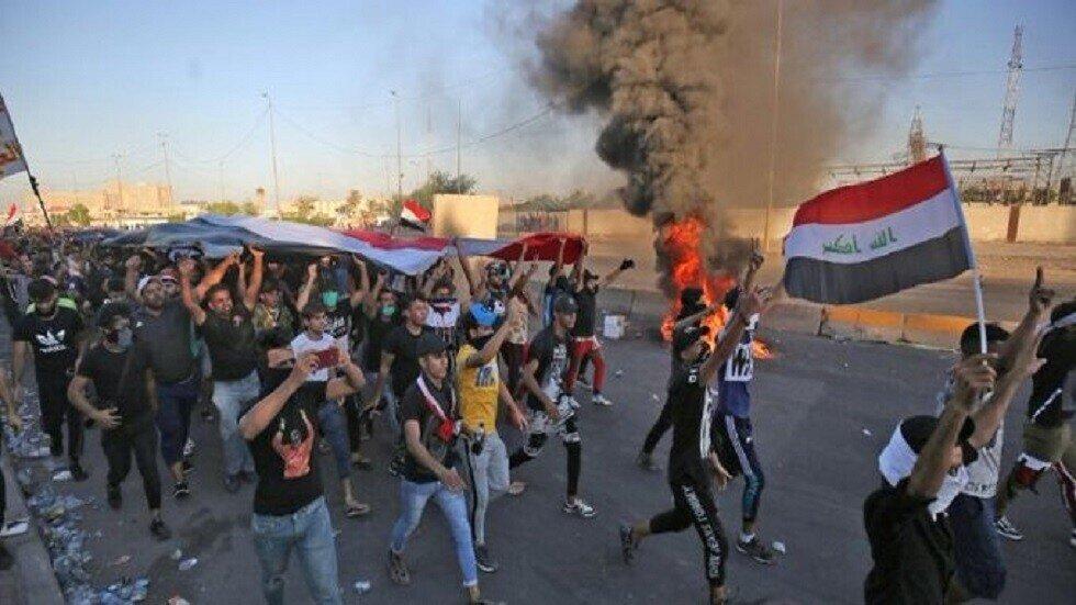 """ممانعت نیروهای امنیتی از ورود معترضان به بغداد/ انتقاد از """"سیاست یک بام و دو هوای دولت الکاظمی"""""""