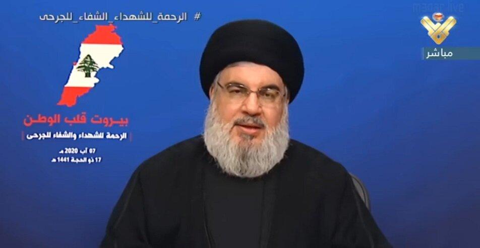 سید حسن نصرالله: انفجار بیروت فاجعه بزرگی است/هیچ ارتباطی با بندر بیروت نداریم