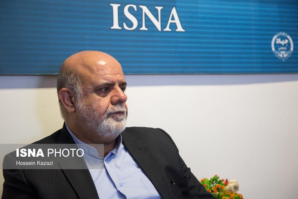 مسجدی: برای تحقق پیشرفت و آسایش ملت عراق درکنار آنها و دولت بغداد ایستاده ایم